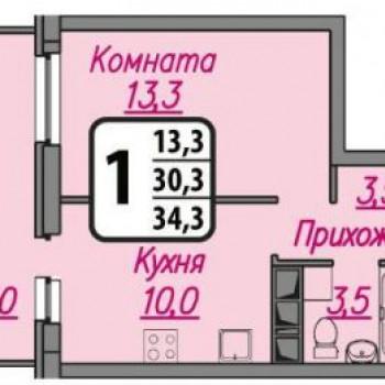 ЖК Гранат (Иваново) – планировка №3