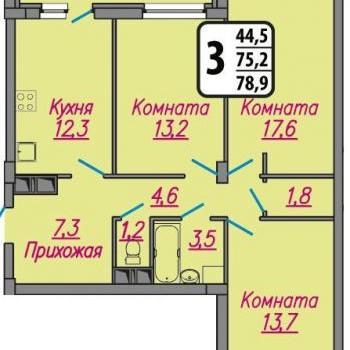 ЖК Гранат (Иваново) – планировка №2