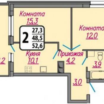 ЖК Гранат (Иваново) – планировка №1