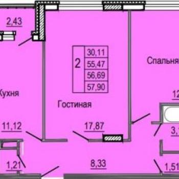 ЖК Жар-Птица (Иваново) – планировка №8