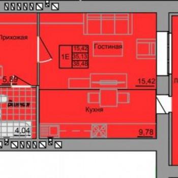 ЖК Адмирал 2 (Иваново) – планировка №4
