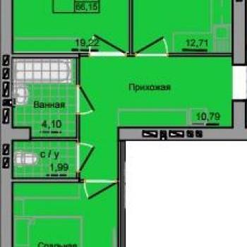ЖК Адмирал 2 (Иваново) – планировка №2