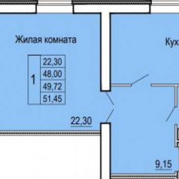 ЖК Феникс (Иваново) – планировка №2