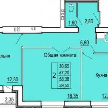 ЖК Феникс (Иваново) – планировка №1