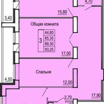ЖК Феникс (Иваново) – планировка №3
