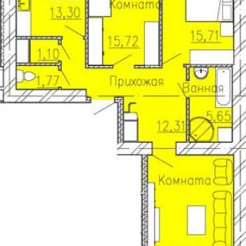 ЖК Добролюбово (Иваново) – планировка №3