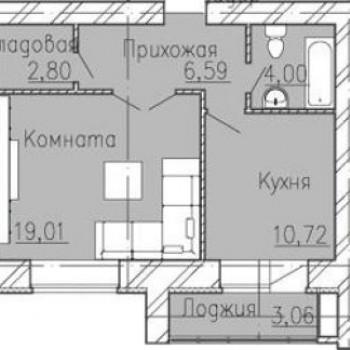 ЖК Добролюбово (Иваново) – планировка №1