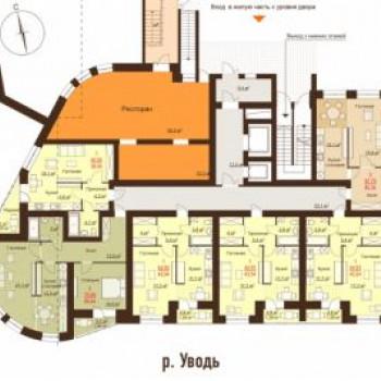 ЖК На Набережной (Иваново) – планировка №1