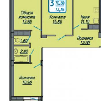 ЖК Аврора 2 (Иваново) – планировка №2