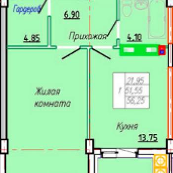 ЖК по Наумова (Иваново) – планировка №1