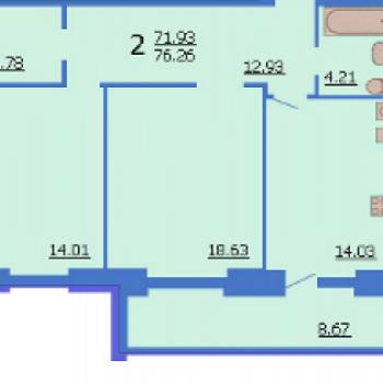 ЖК Вертикаль (Иваново) – планировка №3
