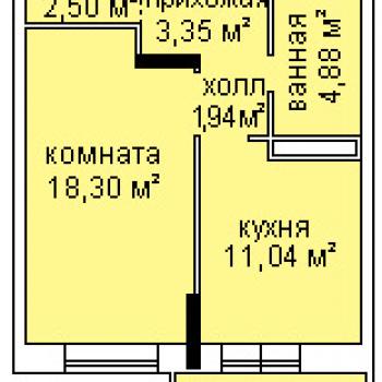 ЖК Холмогоровский (Ижевск) – планировка №1