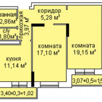 ЖК Холмогоровский (Ижевск) – планировка №3