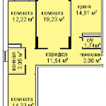 ЖК Холмогоровский (Ижевск) – планировка №2