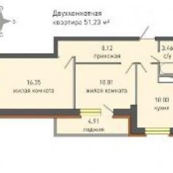 ЖК Крымский (Ижевск) – планировка №3