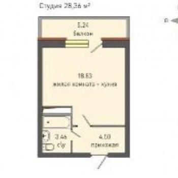 ЖК Крымский (Ижевск) – планировка №1