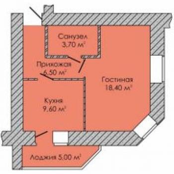 ЖК ГринПарк (Ижевск) – планировка №1