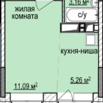 ЖК Эдельвейс (Ижевск) – планировка №1