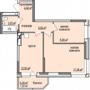 ЖК Эдельвейс (Ижевск) – планировка №3