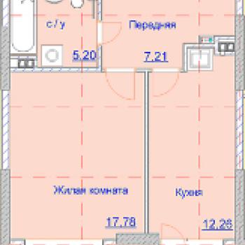 ЖК Алиса на Девятой Подлесной (Ижевск) – планировка №5