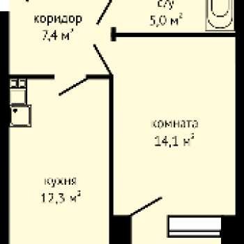 ЖК Гранд (Ижевск) – планировка №1