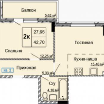 ЖК Заречный квартал (Ижевск) – планировка №3