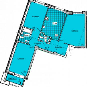 ЖК Колизей (Ижевск) – планировка №3