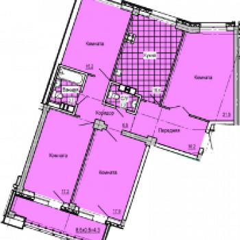 ЖК Колизей (Ижевск) – планировка №2