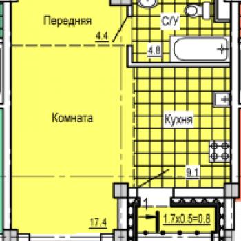 ЖК Колизей (Ижевск) – планировка №1