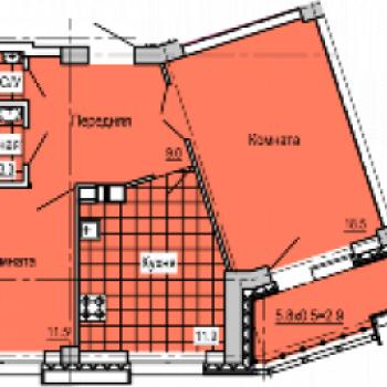 ЖК Колизей (Ижевск) – планировка №4