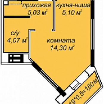 ЖК Добродом (Ижевск) – планировка №1