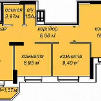 ЖК Добродом (Ижевск) – планировка №3