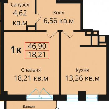 ЖК Премьера (Калининград) – планировка №7