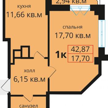 ЖК Премьера (Калининград) – планировка №6