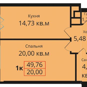 ЖК Премьера (Калининград) – планировка №1