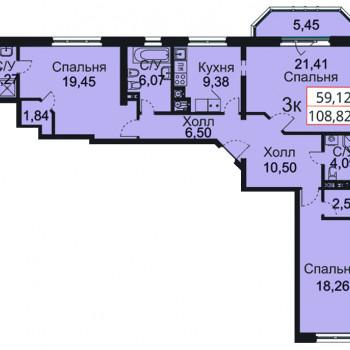 ЖК Премьера (Калининград) – планировка №17