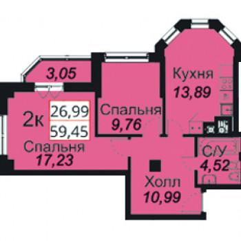 ЖК Премьера (Калининград) – планировка №14
