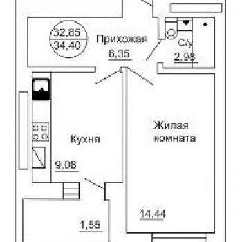 ЖК Ульяна (Калининград) – планировка №2