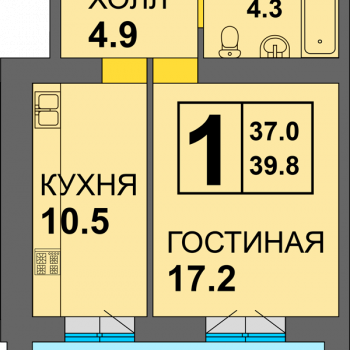 ЖК Дадаевский (Калининград) – планировка №4