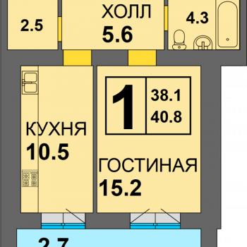 ЖК Дадаевский (Калининград) – планировка №3