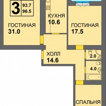 ЖК Дадаевский (Калининград) – планировка №2