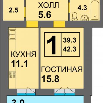 ЖК Дадаевский (Калининград) – планировка №6