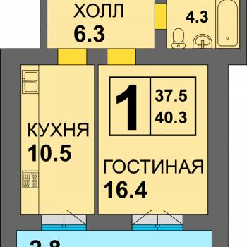 ЖК Дадаевский (Калининград) – планировка №5