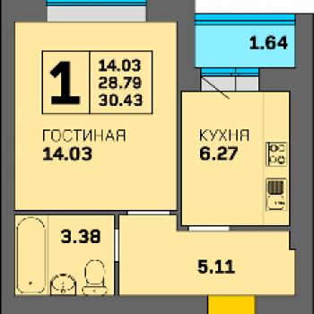 ЖК Орбита (Калининград) – планировка №1