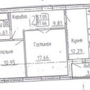 ЖК по ул. Октябрьской (Калининград) – планировка №3
