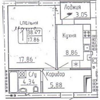 ЖК по ул. Октябрьской (Калининград) – планировка №1