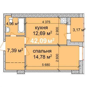 ЖК Палладио (Калуга) – планировка №2