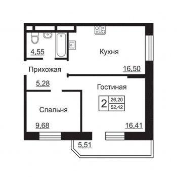 ЖК 4 сезона (Калуга) – планировка №3