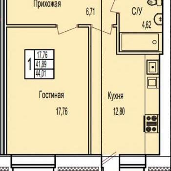 ЖК по ул. Поле Свободы (Калуга) – планировка №2