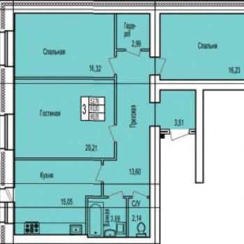 ЖК по ул. Поле Свободы (Калуга) – планировка №3